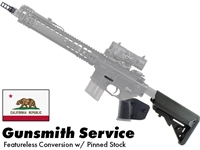 Gunsmith AR15 Featureless Conversion w/ Stock Pin