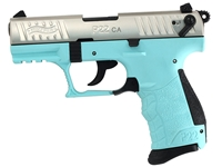 "Walther Arms P22 22LR 3.4"" Angel Blue/Nickel CA"