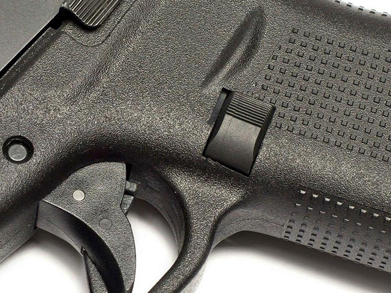 TangoDown Vickers Glock 43 Extended Mag Release Black