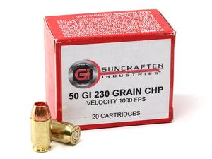 Guncrafter Industries .50GI 230gr CHP 1000FPS 20rd