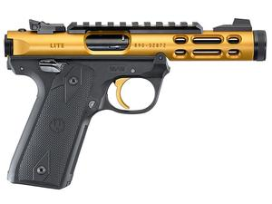 "Ruger Mark IV 22/45 Lite 4.4"" .22LR Gold TB"
