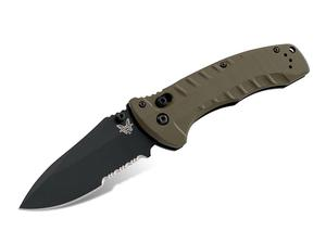 "Benchmade Turret AXIS OD Green G10 3.7"" 980SBK"