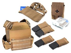 HSGI MPC Modular Plate Carrier Medium w/ Blue Force Gear Attachments