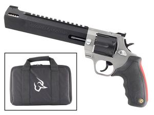 """Taurus Raging Hunter .44 Mag DA/SA Revolver 8.375 """" Ported Barrel 6 Rounds with Case Adjustable Rear Sight Picatinny Top Rail Rubber Grip Two Tone Stainless/Black"""