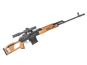 CAI PSL54 7.62x54R Rifle w/ Russian Scope