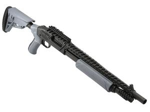 "Mossberg 500 ATI Tactical 12 Gauge Pump Action Shotgun 5 Rounds 18.5"" Barrel 3"" Chamber Gray Polymer ATI Akita Forend Scorpion Stock Matte Blued"