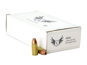 Valor Munitions 9mm 124gr XTP Hollow Point Remanufactured 50rd