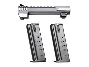 "Desert Eagle 50AE 6"" Barrel w/ 2 Magazines - Polished Chrome Integrated Muzzle Brake"