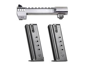 "Desert Eagle 50AE 6"" Barrel w/ 2 Magazines - Brushed Chrome Integrated Muzzle Brake"