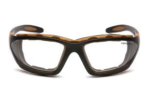 Carhartt CHB410DTP Carthage Clear Anti-Fog Lens, Black/Tan Frame