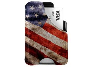 Mission First Tactical American Flag Vintage M1 Minimalist Wallet