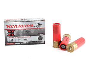 "Winchester Super-X 12ga 2.75"" Rifled Slug Hollow Point 1oz 5rd"