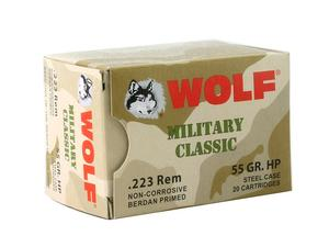 Wolf Military Classic Steel Case .223 Rem 55gr HP 20rd
