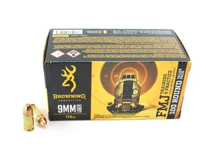 Browning 9mm 115gr FMJ 100rd