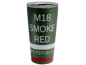 Mission First Tactical M18 Red Smoke 20oz Hot/Cold Tumbler