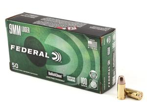 Federal Premium Ballisticlean 9mm 100gr Lead Free Frangible 50rd