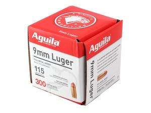 Aguila 9mm Luger 115gr FMJ 300rd