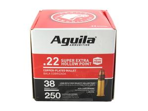 Aguila .22LR Super Extra HP 38gr 250rd