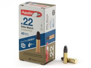 Aguila Rifle Match Competition .22LR 40gr SP 50rd