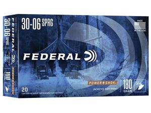 Federal Power Shok 30-06 Springfield 180gr Soft Point 20rd