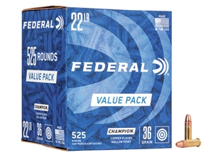 Federal 745 22LR 36gr HV Champion Copper HP Bulk/525