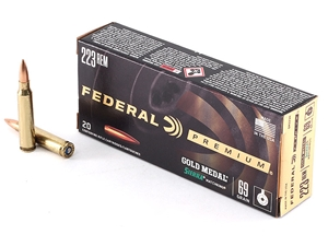 Federal GM223M 223 Rem 69gr Gold Medal Match 20rd/Box