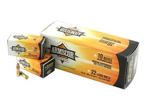 ARMSCOR 22LR 36gr High Velocity Lead Hollow Point 500rd