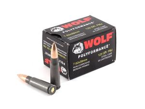Wolf 7.62x39mm 123gr Steel Case 20rd