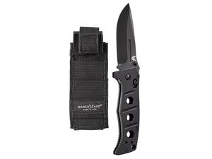 "Benchmade 2750BK Sibert Adamas Automatic Knife w/ Black Handle 3.82"" Black Plain"