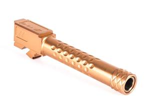 Zev Match Barrel Glk 19 Dimpled Threaded Burnt Bronze