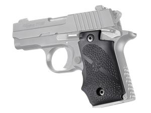Hogue Sig P238 Ambi Rubber Grip with Finger Grooves, Black