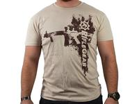 RifleGear Rifle Fashion T-Shirt, Tan L